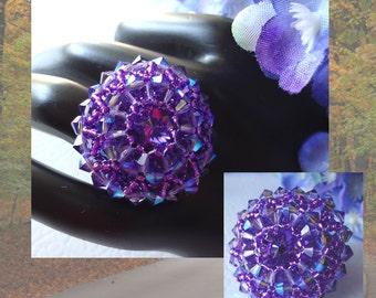 Swarovski Crystal Rivoli Tanzanite Ring