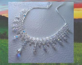Swarovski Crystal  Necklace Crystal Shimmer