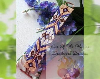 Bead PATTERN Navajo West  Cuff Bracelet Loom Or Square Stitch