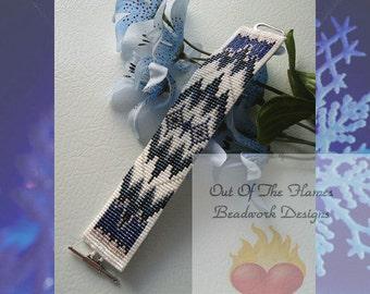 Bead PATTERN  Haimati Native American Cuff Bracelet Loom Or Square Stitch