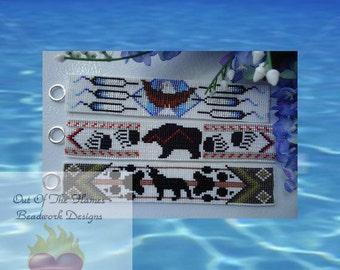Bead Pattern Ebook Animal Totem Trio 3 patterns Loom Or Square stitch