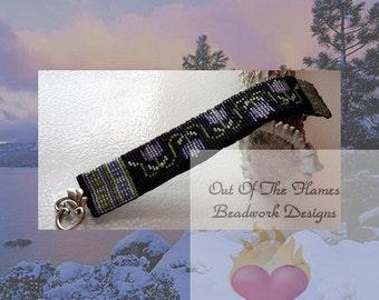 Bead Pattern Spring Tulip Cuff Bracelet Loom Or Square stitch