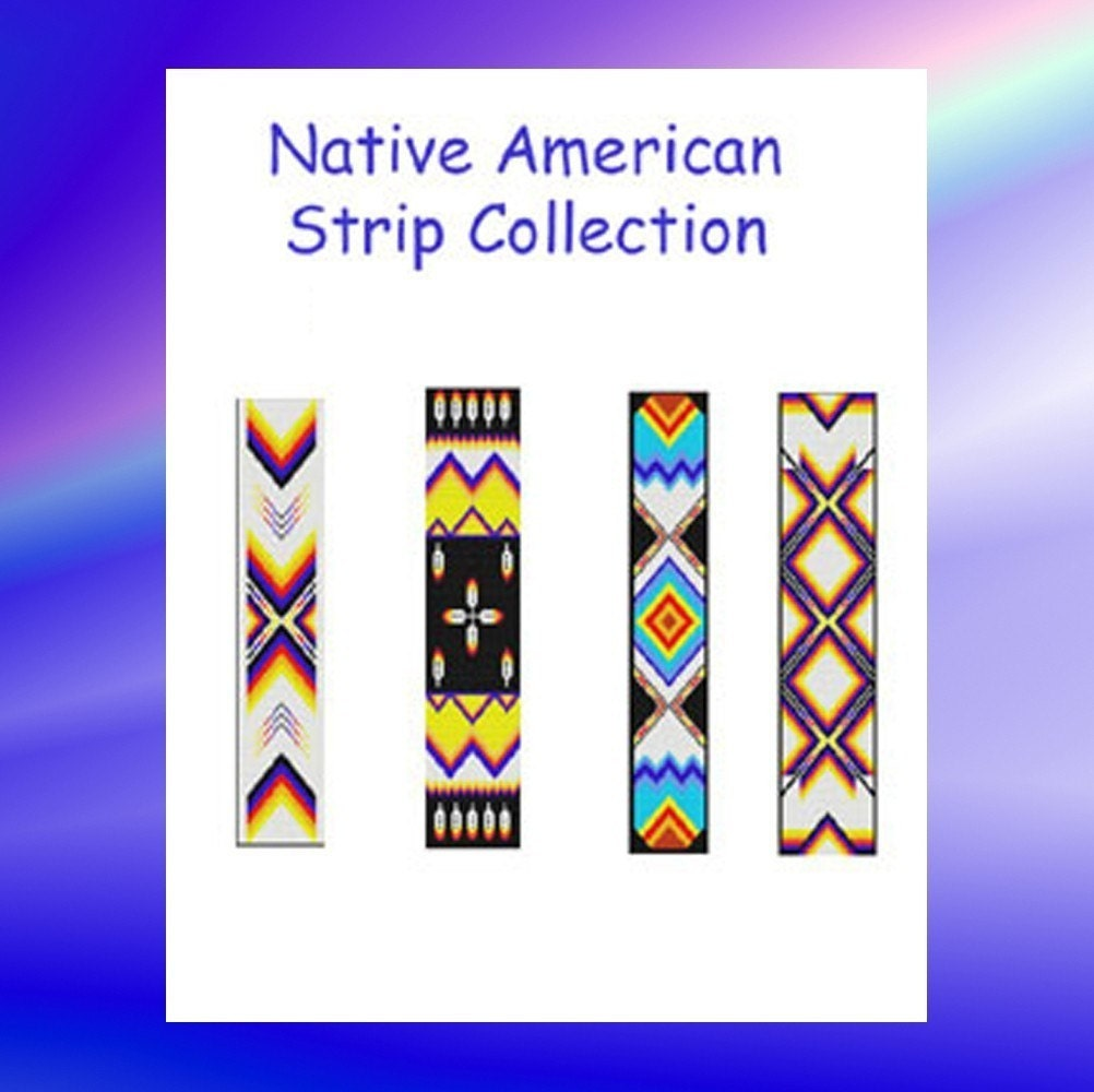 Native American Peyote Beading Patterns http://www.etsy.com/listing/54213575/bead-pattern-native-american-strips
