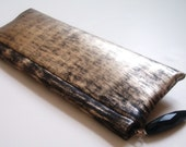 RESERVED Painted Skinny Zipper Clutch