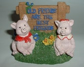 Old Friends Pig Knick Knack for your BFF