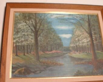 Kreutzer . signed . Vintage Oil Painting Landscape