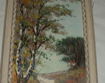 """Remco .  signed. Vintage 27"""" Oil on Canvas Impressionistic Landscape"""
