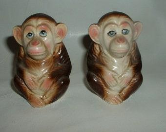 Vintage Monkey Salt and Pepper Shakers