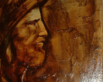 Knutson . Vintage  Abstract Oil Painting