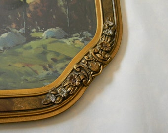 Vintage Print in Fabulous Octagon Frame