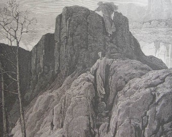 Gustave Dore (1832-1883) Purgatory and Paradise by Dante Engraving Plate 7