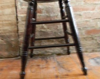Vintage Primitive Antique 1820's - 1830's Wood Stool