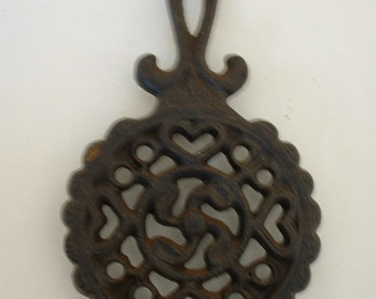 Cast Iron Trivet with Lots of Hearts for Your Country Kitchen Wilton