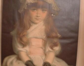 "John Everett Millais . Vintage 'Cherry Ripe'  Victorian 31""  x 21""  Print"