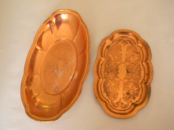 Vintage CopperCraft Guild Taunton Mass - Tray & Dish/Bowl/Tray