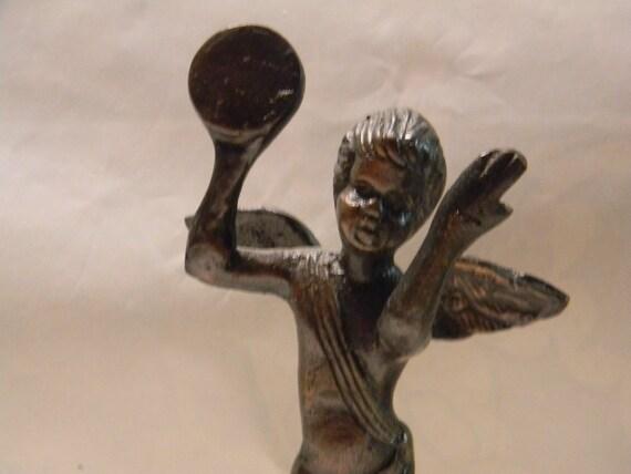 Vintage Bronze Cherub Angel Statue