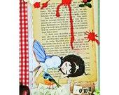 snow white print 8 x 12 APPLE COMA