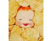 doll chips print 5 x 7 POTATO CHIP