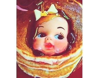 doll pancakes print 8 x 12 PAMCAKE