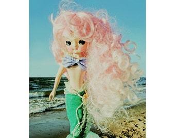 mermaid print 5 x 7 FANTA SEA GIRL