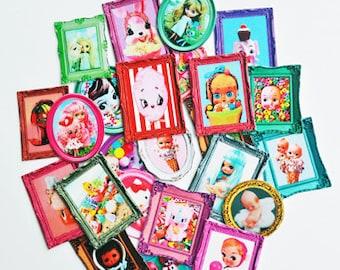 miniature dollhouse Blythe size boopsie art 25 different mini masterpieces