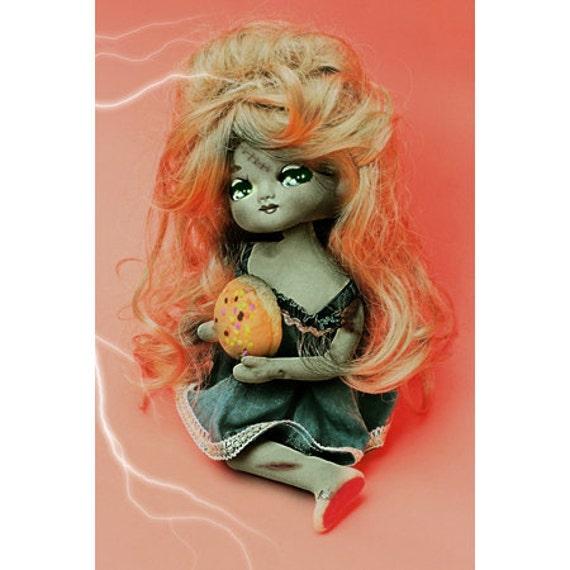 halloween doll print aceo size Halloweena
