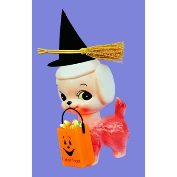 halloween dog print aceo size BONE APPE TREAT