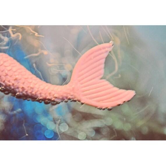 mermaid art print 8 x 12 FERRY TALE