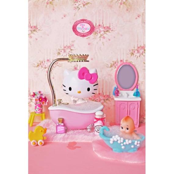 kitten bathroom print 4 x 6 HELLO TUBBY