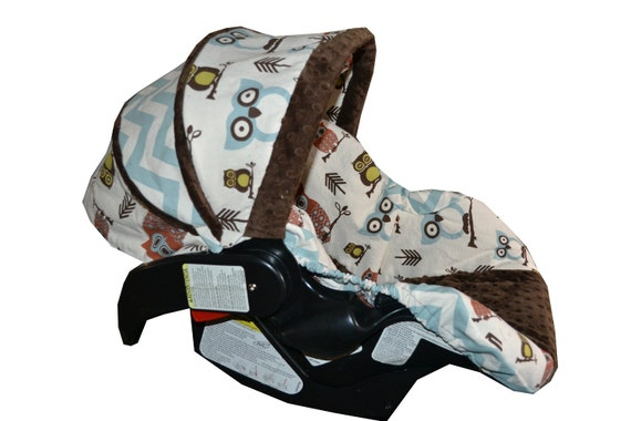 Made to order Owl Car Seat Cover for Any Infant Car Seat