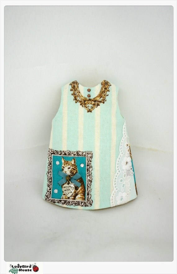 LADYBIRD HOUSE Blythe Outfit Cat Dress - Blue