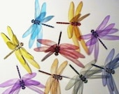 20 x 3D Dragonfly Scrapbooking, Craft, Gift, Card, Birthday, Art, Baby, Anniversary, Christening, Wedding  - 1 of EACH COLOUR