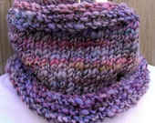 Cowl Neckwarmer hand knit cowl Petal Glitz Ready to Ship