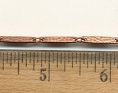 10 Feet of Vintage Textured Flat Link Bar Chain, Copper Plated Steel, 16mm x 3mm