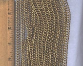 6 Feet of Vintage Brass Chain, 5mm x 10mm, Triple Linked with Twist