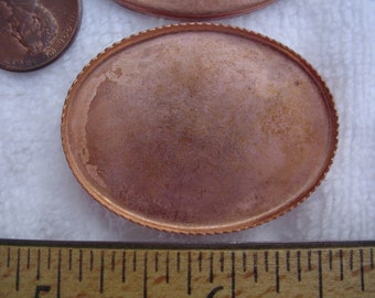 20 Vintage Copper Plated Bezels, 28mm x 38mm Oval