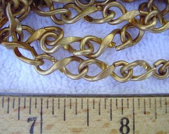 5 Feet of Vintage Brass Figure 8 Chain, 15mm x 6mm