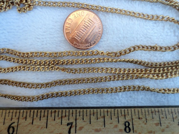 50 Feet of Vintage Brass Chain, Just About 3mm x 4mm