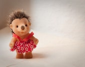 Reserved for MossMountain // 1 baby hedgehog. From the bear family / Simba. 80s toys. cute. a little girl hedgehog.