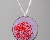 Chinese Chrysanthemum Enameled Necklace