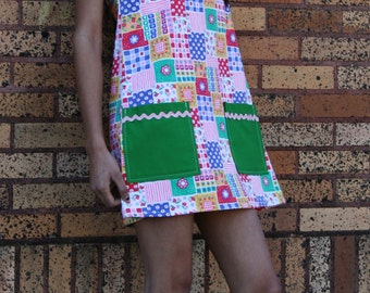 Funky Fabric Patchwork A line Dress