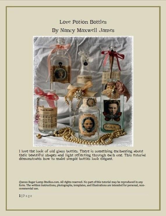 Love Potion Bottles  Ebook/Tutorial PDF Format