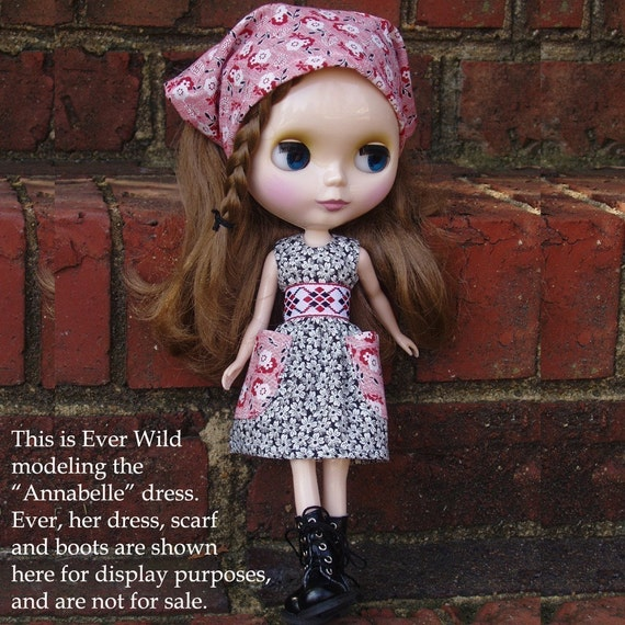 Blythe Doll Dress Pattern with Photo Instructions in PDF Format