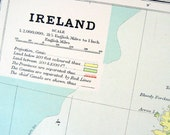 1889 Antique Illustration Map of Ireland