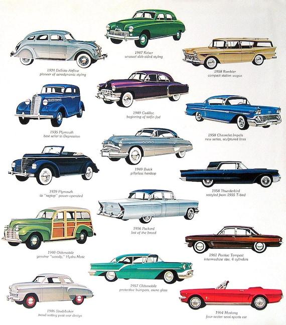 1975 Vintage Print Classic American Cars