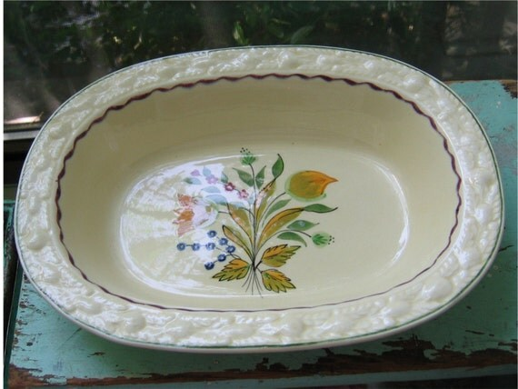 Vintage Hand Painted Titian Ware Bowl