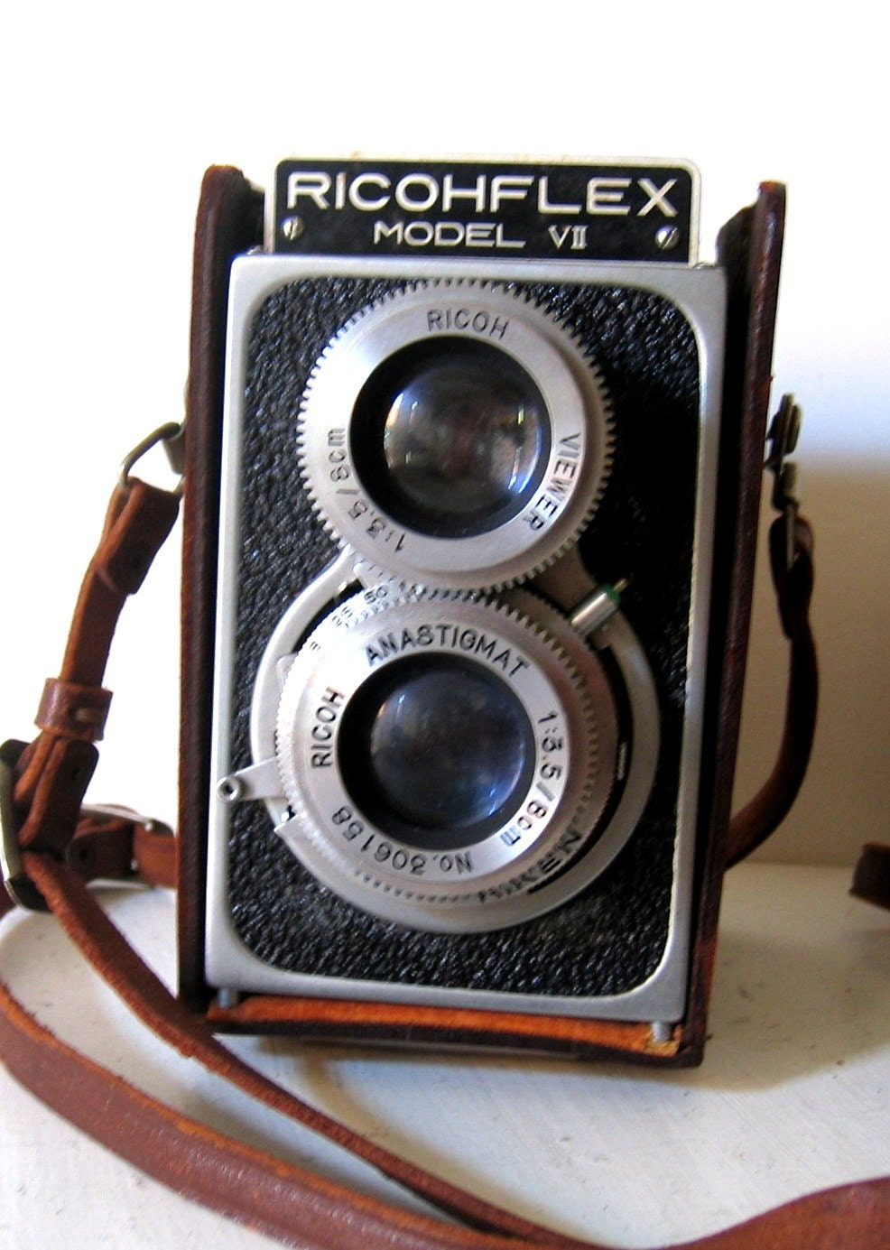 Vintage Riken Ricohflex Model Vii Camera With Case