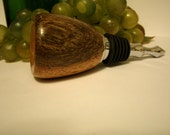 Hand Turned Imbuia Wood Stainless Steel Wine Bottle Stopper