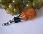Hand Turned Goncalo Alves Wood, Vintage Style Wine Bottle Stopper