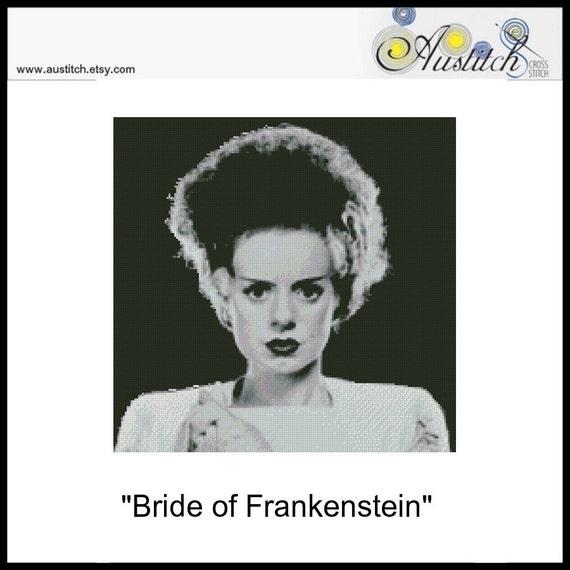 Bride of Frankenstein - Cross Stitch PDF Pattern